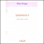 Partitura Sonâncias II para piano e violino.- 118 -