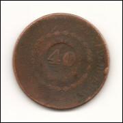 Moeda Brasil 40 réis 1832.- 159 -