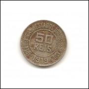 Moeda Brasil 50 réis 1919.- 163 -