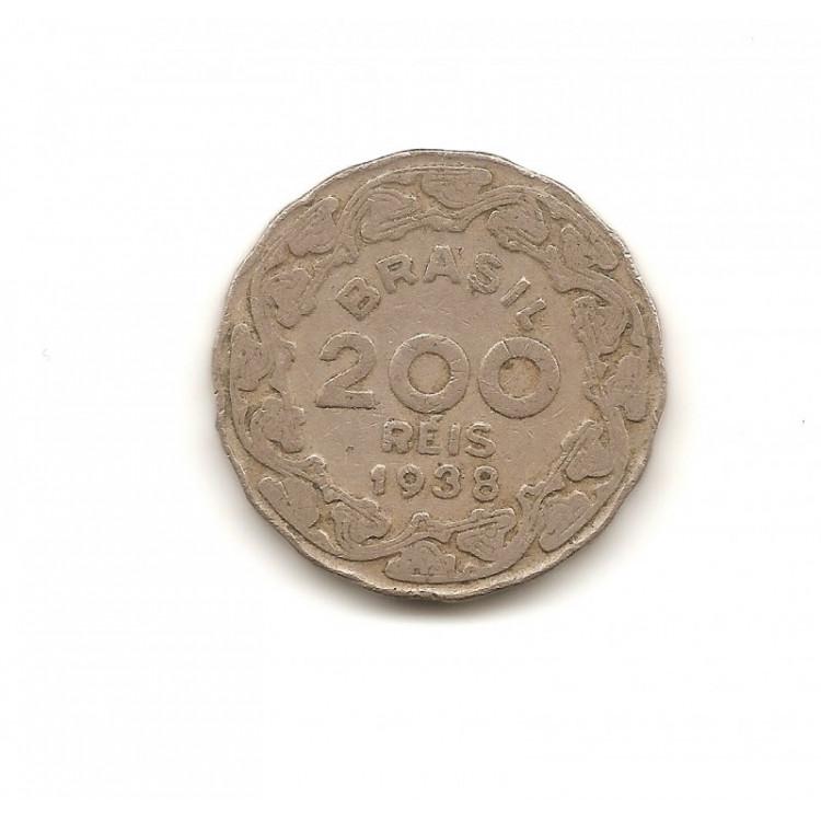 Moeda Brasil 200 réis 1938.- 169 -