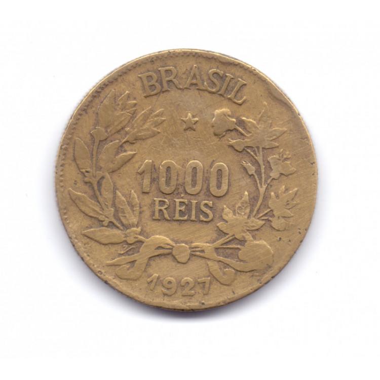 Moeda do Brasil de 1000 réis de 1927.- 228 -
